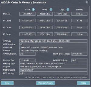 Windows 10 AIDA Test E5-2689