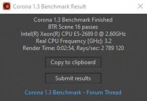 Windows 10 Corona E5-2689