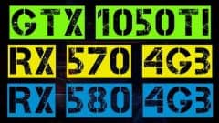 GTX 1050 Ti VS RX 570 VS RX 580