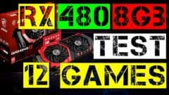 RX 480 8Gb TEST IN 12 GAMES