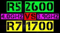 RYZEN 5 2600 VS RYZEN 7 1700