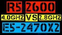RYZEN 5 2600 VS XEON E5-2470x2