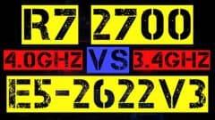 RYZEN 7 2700 VS XEON E5-2622 V3
