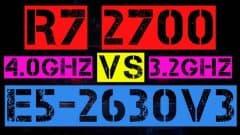 RYZEN 7 2700 VS XEON E5-2630 V3