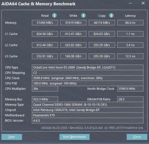 Windows 11 AIDA Test E5-2689
