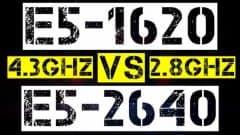XEON E5-1620 VS E5-2640