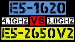 XEON E5-1620 VS E5-2650 v2