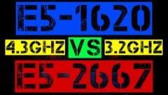 XEON E5-1620 VS E5-2667