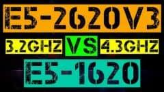 XEON E5-2620 V3 VS E5-1620
