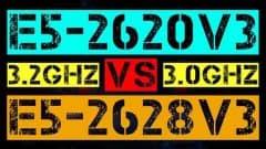 XEON E5-2620 V3 VS E5-2628 V3