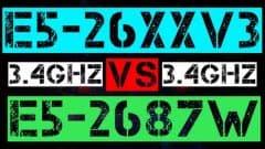 XEON E5-2622 V3 VS E5-2687W