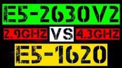 XEON E5-2630 V2 VS E5-1620