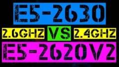 XEON E5-2630 VS E5-2620 V2