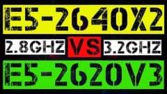 XEON E5-2640x2 VS E5-2620 V3