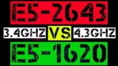 XEON E5-2643 VS E5-1620