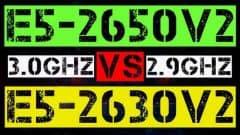 E5-2650 V2 VS E5-2630 V2