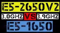 XEON E5-2650 v2 VS E5-1650