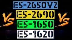 XEON E5-2650v2 VS E5-2690 VS E5-1650 VS E5-1620