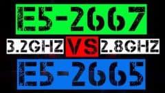 XEON E5-2667 VS E5-2665