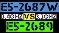 XEON E5-2687W VS E5-2689