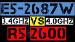 XEON E5-2687W VS RYZEN 5 2600