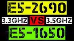 XEON E5-2690 3.3GHz VS E5-1650 3.5GHz