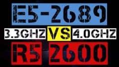 xeon E5-2689 vs ryzen R5 2600